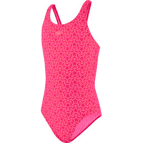 speedo Boomstar Allover Muscleback Uima-asu Tytöt, electric pink/galinda